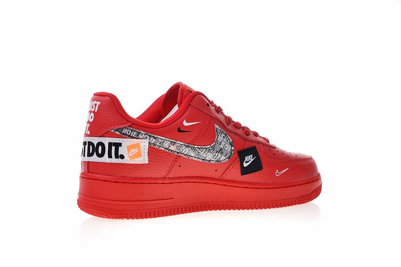 9b1ab6c6fc2a ... Nike Air Force 1 Low Just Do It University Red Black Total Orange AR7719-106  ...