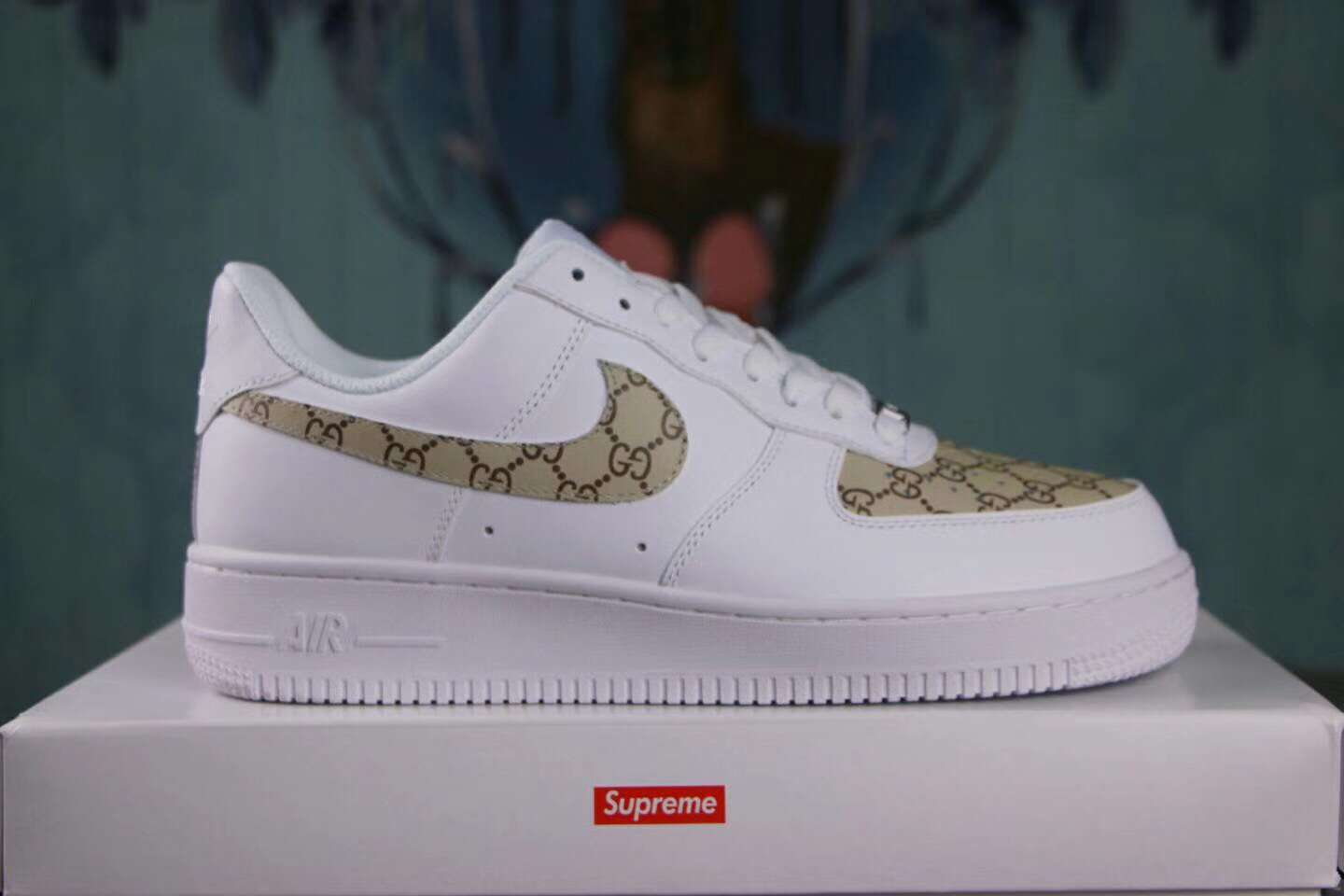 Force Lifestyle Custom Sepsport Air Sup Nike Gold White Shoes Low 1 I5x4q