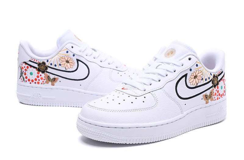 sneakers for cheap 9ef62 e3f72 ... Nike Air Force 1 Low Lunar New Year White Flower Colorful AJ8298-100 ...