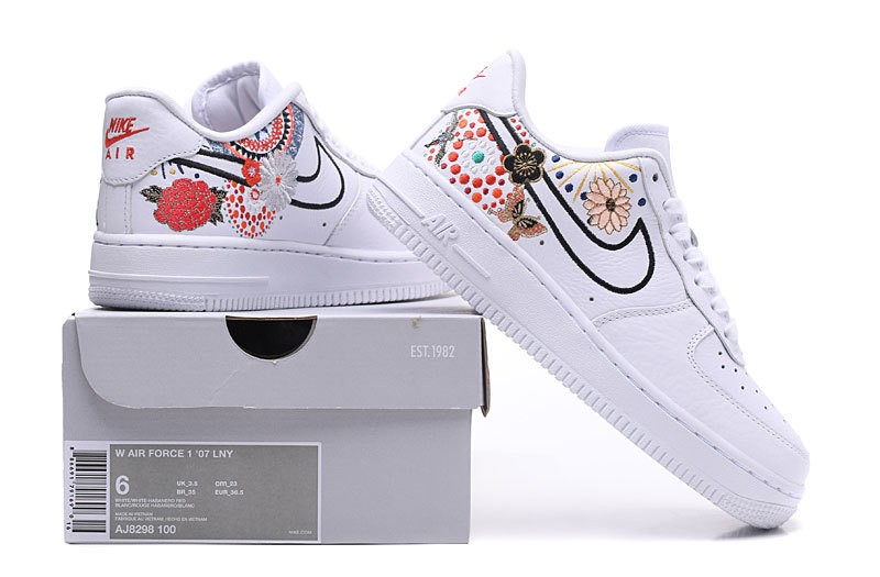 Nike Air Force 1 Low Lunar New Year White Flower Colorful AJ8298 100