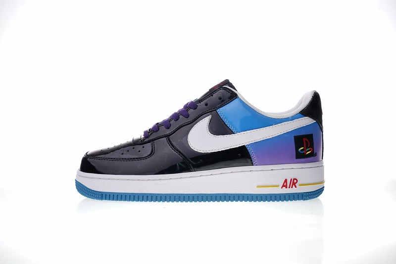 release date 62dc4 d9d54 Prev Nike Air Force 1 Low Playstation Black Blue White Purple Varsity Red  306096-056. Zoom