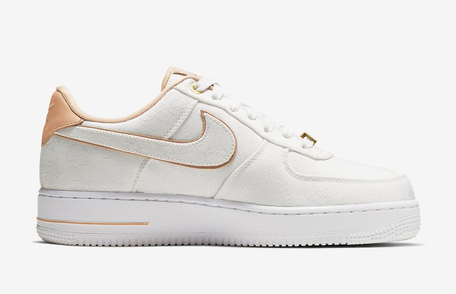Nike Air Force 1 Lux White Metallic Gold Bio Beige 898889-102