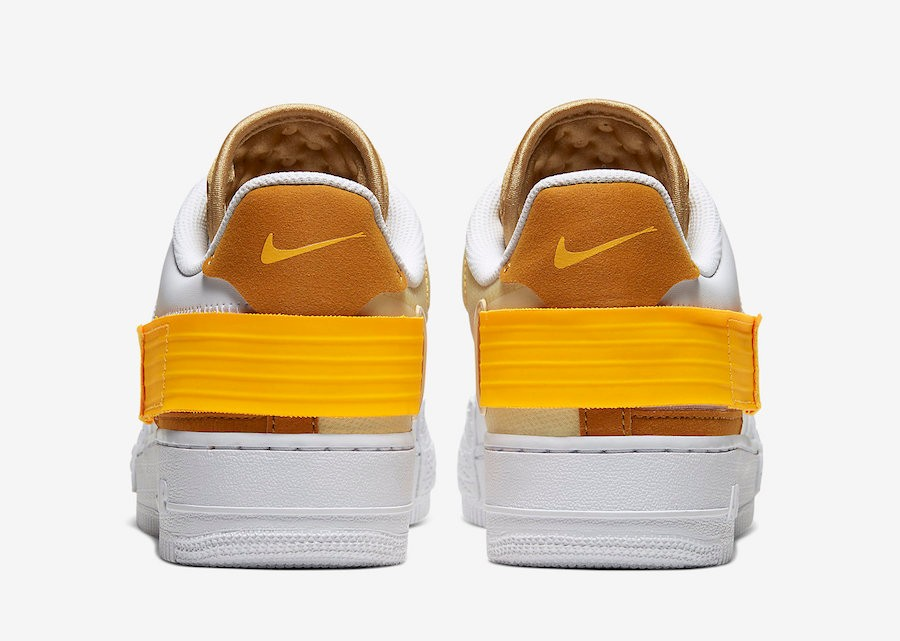 Nike Air Force 1 Type White University Gold AT7859 100