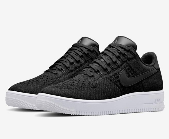 272542dadda36d Nike Air Force 1 Ultra Flyknit Low Black All Black NSW HTM Lifestyle Shoes  817419-