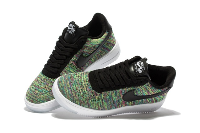 nike air force 1 flyknit mens green