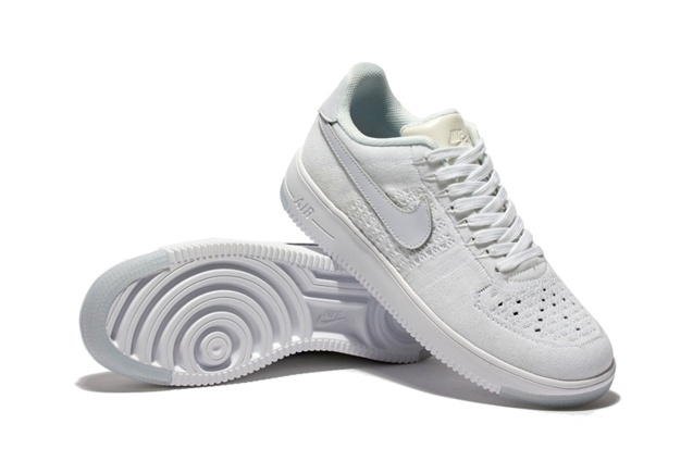 Nike Men Air Force 1 Low Ultra Flyknit White White Ice 820256 100