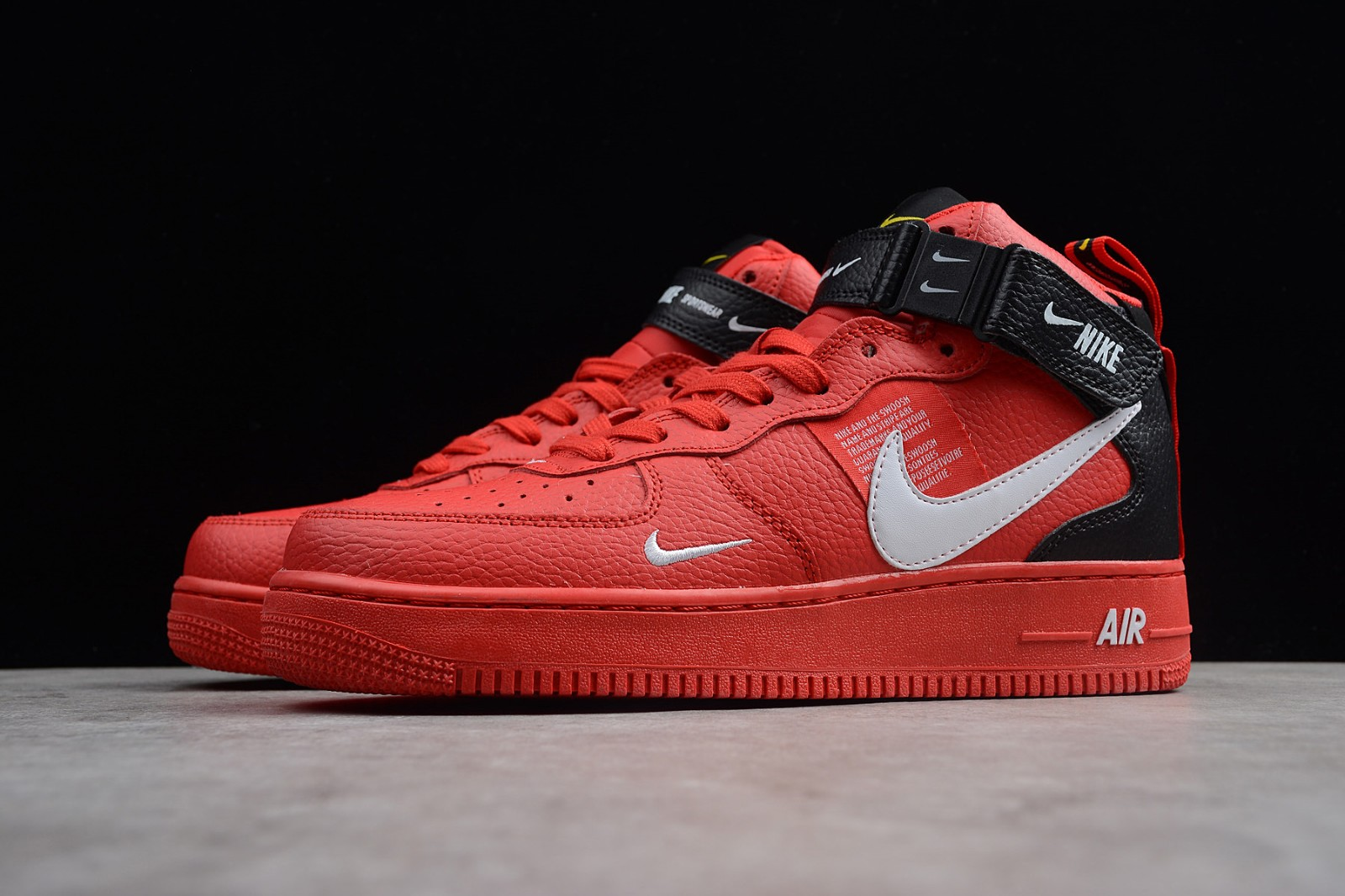 Nike Air Force 1 Mid 07 LV8 University Red White Black 804609 605