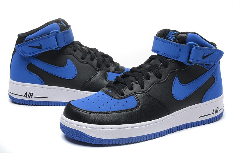 Nike Air Force 1 Mid Black Game Royal Blue White 315123 027 Sepsport