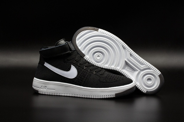 Air Force Ultra Mid 817420 Flyknit White Men 005 Af1 Lifestyle One Black Shoes Nike Qs OuPXZki
