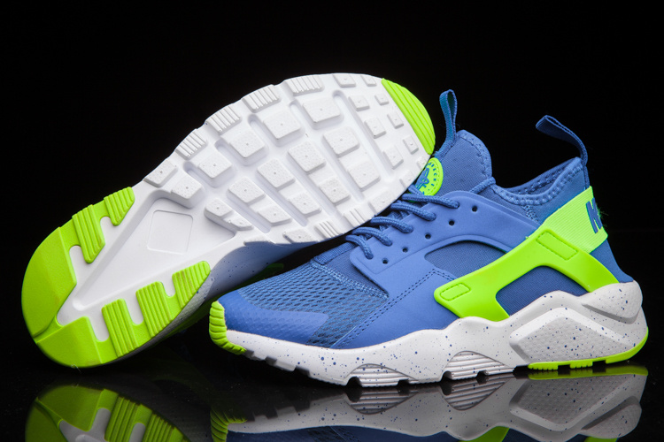pretty nice fc499 8eb8c Prev Nike Air Huarache Run Ultra BR Blue Volt Green Trainers 819685-009.  Zoom