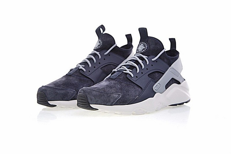 49e97a602a69 ... Nike Air Huarache Run Ultra ID Custom Drak Blue Grey 829669-667 ...