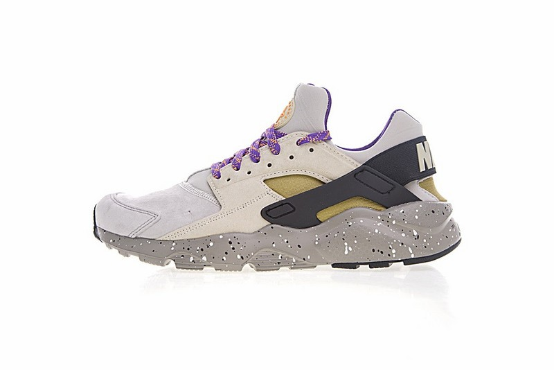 b999fa04d2dd Nike Air Huarache Run Ultra ID Custom Purple Grey Black Colorful ...