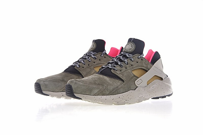 best sneakers ac587 ee90d Nike Air Huarache Run Ultra ID Moss Green Brown And Pink 829669-336