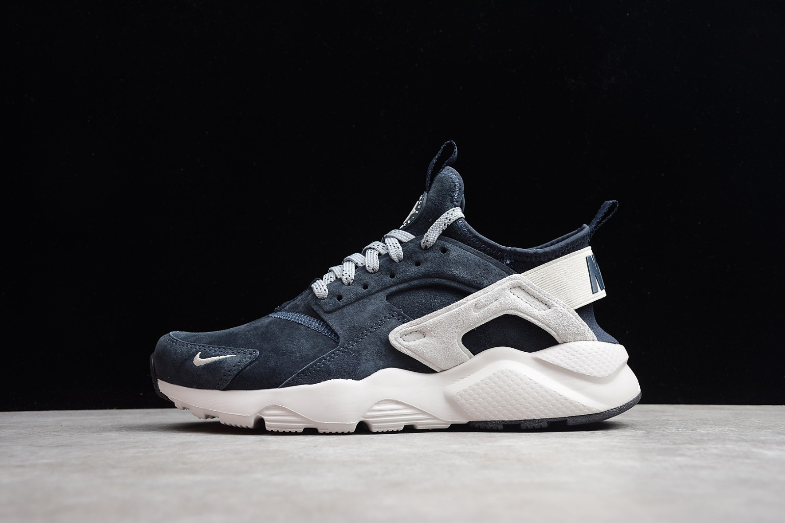 219b4fb2c9d6 Nike Air Huarache Run Ultra Midnight Navy Grey White 829669-402 ...