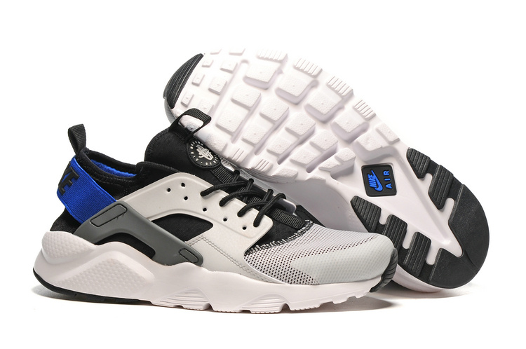 huge selection of 9a9df 70c4b Nike Air Huarache Run Ultra White Black Blue Men Women Running Shoes ...