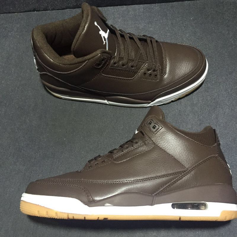 Nike Air Jordan III 3 Chocolate Brown Men Basketball Shoes Leather