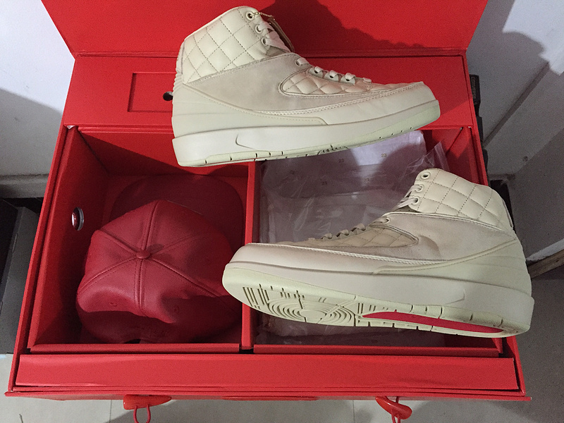 online store 4e960 26694 Nike Air Jordan 2 Retro Just Don Don C DS Beach Hat Gold Pin Beach Metallic  Gold University Red Basketball Shoes 834825-250