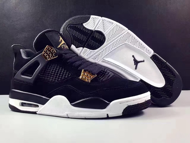 ceb6d0348cbbc5 Prev Nike Air Jordan 4 IV Royalty AJ4 Retro Men Shoes Black Gold 308497-032