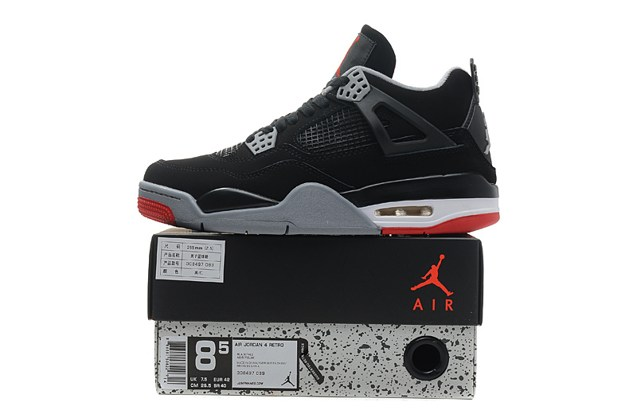c16c5386823720 Nike Air Jordan IV 4 Retro Black Cement Fire Red BRED OG 308497 089 ...