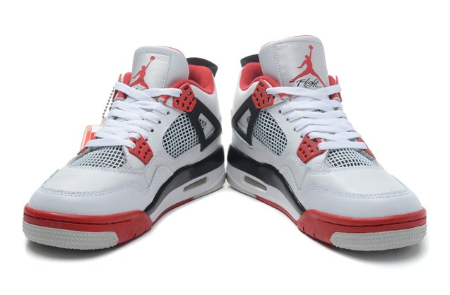 finest selection 40f07 19fe4 ... Nike Air Jordan Retro 4 IV Fire Red White Fear Bred Thunder 308497 110  ...