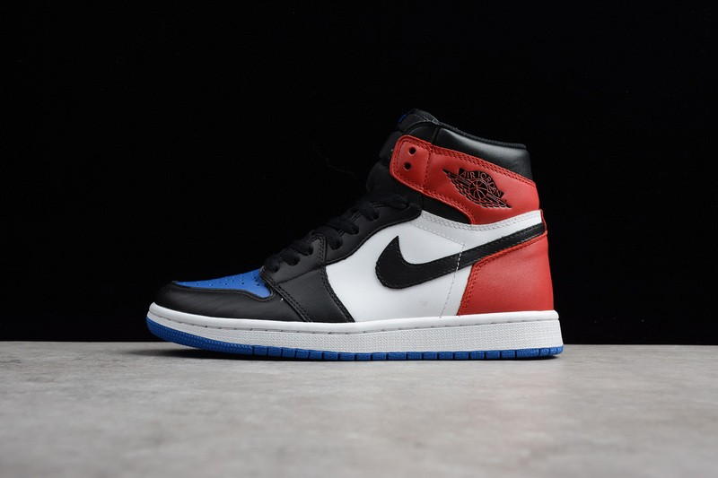344a18cca53 Prev Nike Air Jordan 1 Retro High OG Top 3 Black Varsity Red Varsity Royal  ...