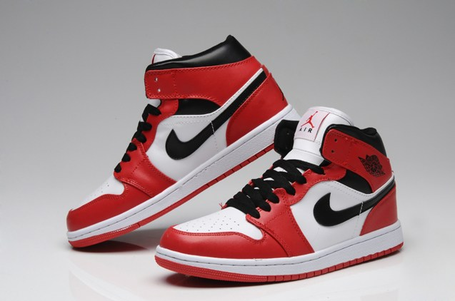 big sale 19232 c64fe Prev Nike Air Jordan I 1 Retro High Shoes Leather White Red Black ...