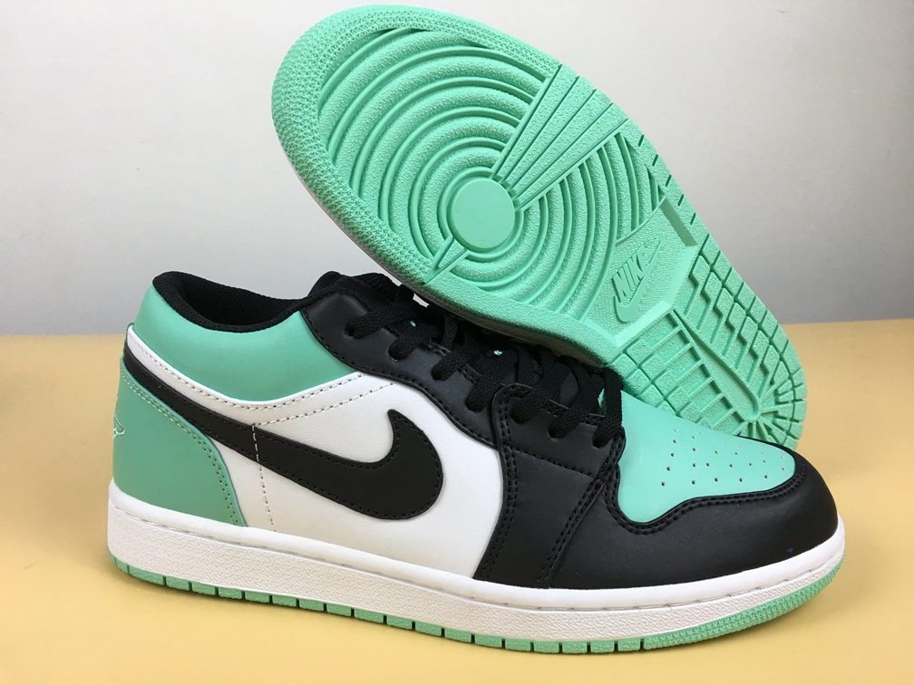 48534f7d7be Prev Nike Air Jordan 1 Low Men Basketball Shoes Atmosphere Green Black  553558-110. Zoom