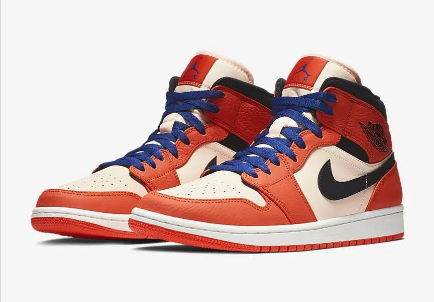 nike air jordan 1 mid se team orange