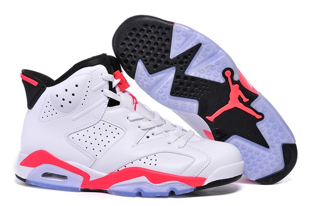 huge discount 28f79 4f266 Prev NIKE AIR JORDAN 6 VI RETRO WHITE INFRARED 384664 123 Men Shoes