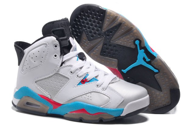 buy online 184ed b03b1 Prev Nike Air Jordan 6 VI Retro White Sky Blue ...
