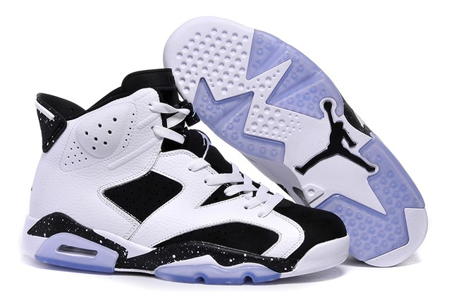 sale retailer 1f724 13b43 Prev Nike Air Jordan VI 6 Retro BLACK WHITE OREO COOL GREY 384664 ...