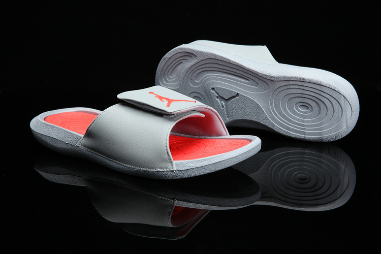 9bcf13e94e0b89 Nike Jordan Hydro 6 grey orange men Sandal Slides Slippers 881473 ...