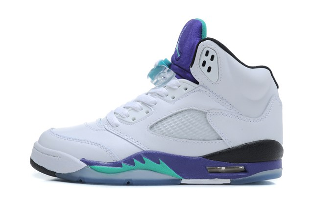 best website c242b 5014a Prev Nike Air Jordan V 5 Retro White Emerald Green Grape Ice Men Women GS  ...