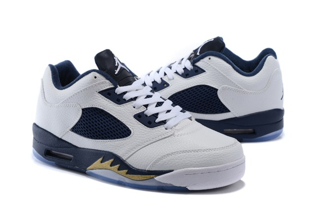 check out b269a 50c04 Nike Air Jordan 5 V Retro Low Dunk From Above White Gold 819171 135