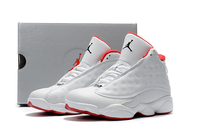 new arrivals 1d1d8 e7638 Nike Air Jordan 13 Kids Shoes White Red New