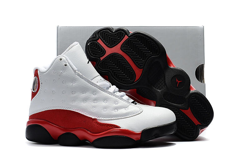 0322519464c Prev Nike Air Jordan XIII 13 Retro Kid Children Shoes Hot White Red Black