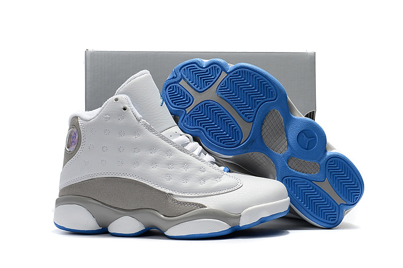 27ff99fe9 Prev Nike Air Jordan XIII 13 Retro Kid white grey blue basketball Shoes  310004-103