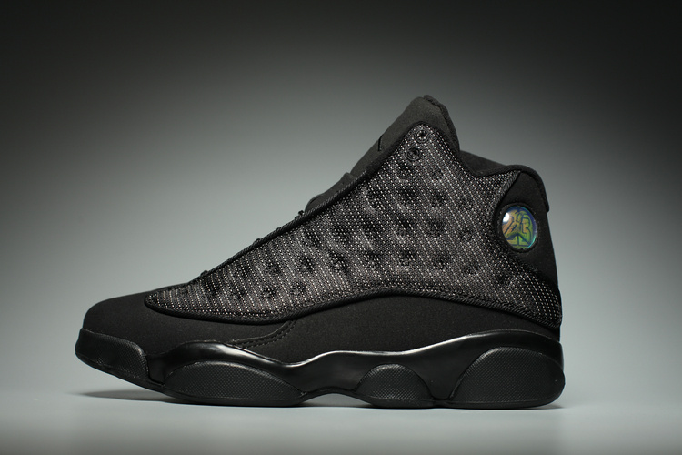 7d561d35a8df 2017 Nike Air Jordan XIII 13 Retro Black Cat Anthracite Men Shoes  414571-011 ...