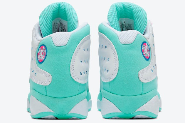 2020 Air Jordan 13 Gs Aurora Green White Soar Aurora Green Digital Pink 439358 100 Sepsport