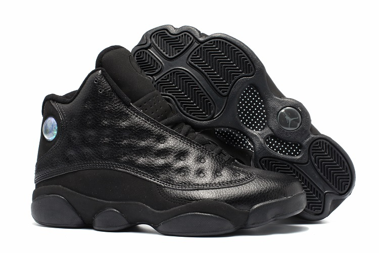 85ad1e192ba34e Nike Air Jordan 13 Retro Black Altitude Men Basketball Shoes 310004 ...
