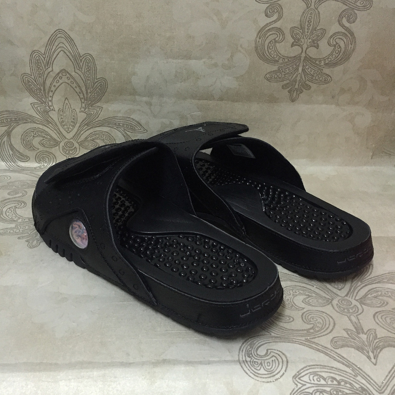 sports shoes 9eaa7 fba9c Nike AIR JORDAN HYDRO XIII 13 RETRO black anthracite men sports slippers  684915-011