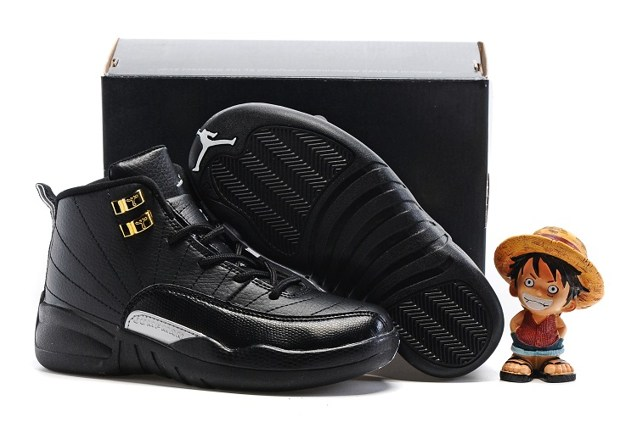 1e4f627d552388 Nike Air Jordan Retro 12 The Master Black Metallic Gold BG GS 153265 ...