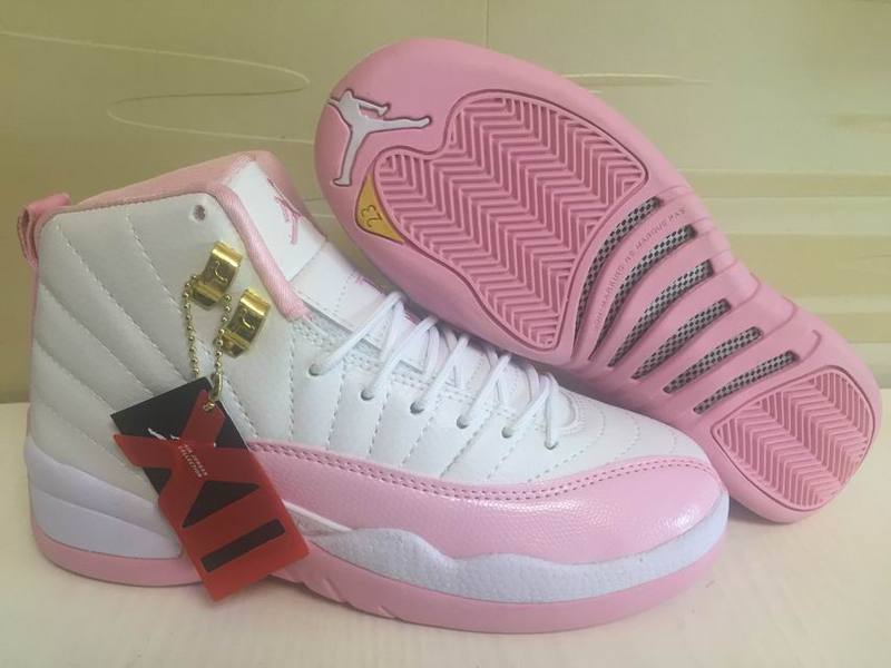 f9b4b0ffcc1 Prev Nike Air Jordan XII 12 White Pink Women Basketball Shoes. Zoom