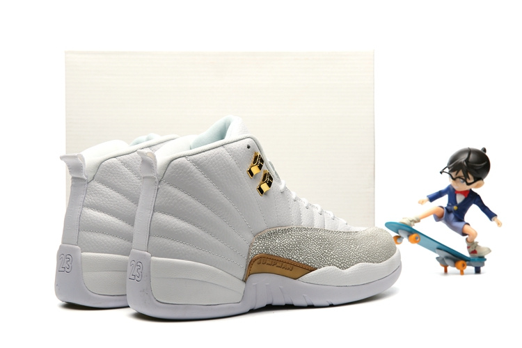uk availability 4e297 7ace2 ... Nike Air Jordan 12 XII Retro OVO White Gold Wings Men Basketball Shoes  873864-102 ...