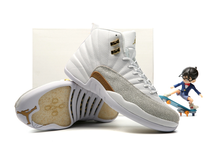 100% top quality detailed pictures speical offer Nike Air Jordan 12 XII Retro OVO White Gold Wings Men Basketball ...