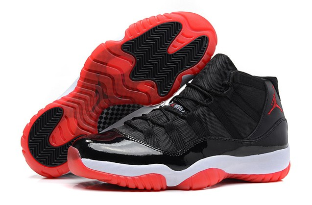 sports shoes 48afe 161fc Prev Nike Air Jordan XI 11 Retro Black Varsity Red White Bred 378037 010