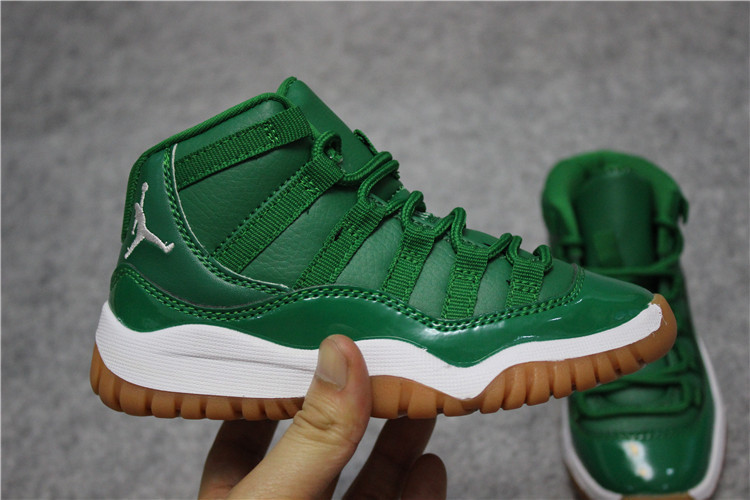brand new 7d3a3 b640b Nike Air Jordan XI 11 Retro green Basketball Shoes
