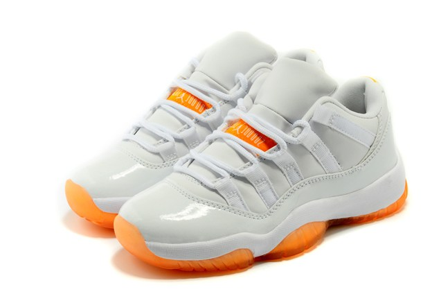 promo code 23a72 d821e ... Nike Air Jordan 11 Retro XI Low Citrus Orange White GS Women Shoes  580521 139 ...