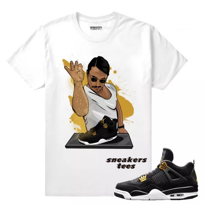 06a59bb82b60 Match Jordan 4 Royalty Salt Bae 4s White T-shirt - Sepsport