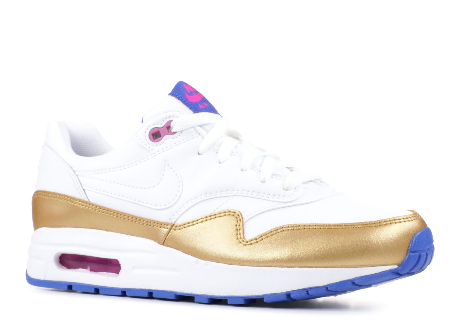 Estación de ferrocarril Escalofriante Londres  Nike Air Max 1 GS White Metallic Gold 807605-103 - Sepsport